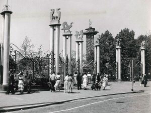 Old entrance of Blijdorp Zoo