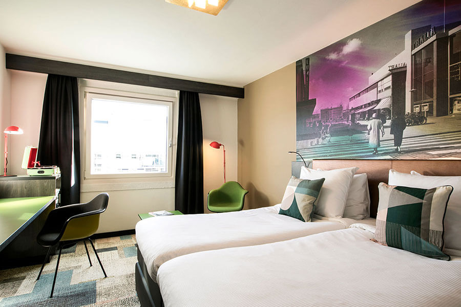 Renovated bedroom Savoy Hotel Rotterdam